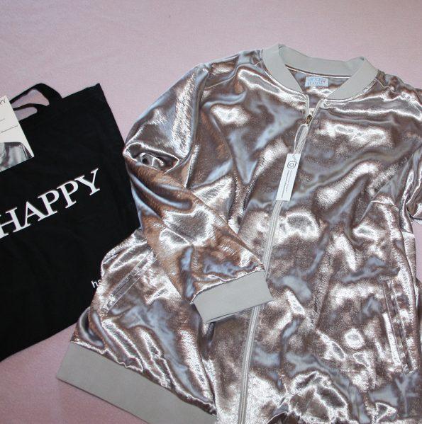 silbermetallick Blouson von Happy Size
