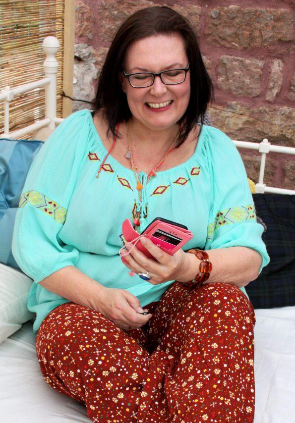 Tunkia mit Stickerei von Angel of Style, Jersey-Hose von Janet & Joyce