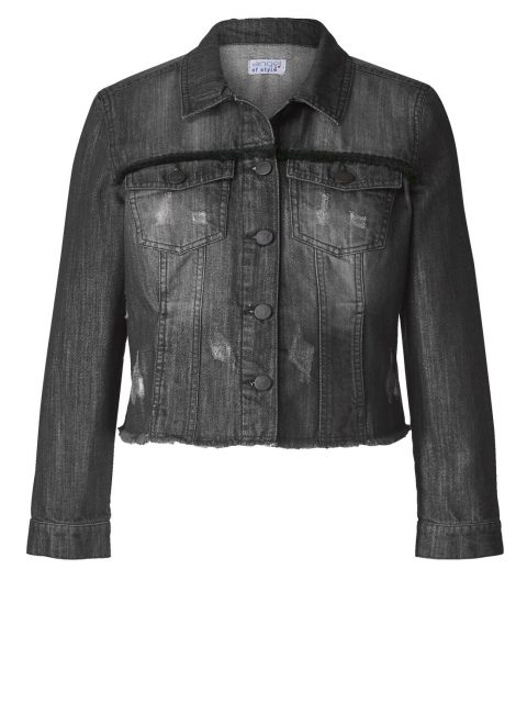 Jeansjacke Destroyed-Optik Angel of Style Happy Size black